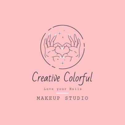 Lovely Logo Maker for a Makeup Studio  4041f