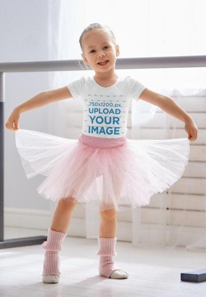 T-Shirt Mockup of a Little Ballerina with a Tutu 40275-r-el2