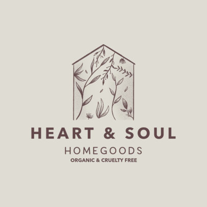 Logo Maker for an Organic Home Goods Company 4062
