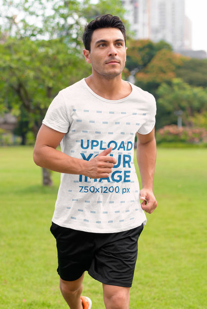 Activewear Mockup Featuring a Man Jogging at a Park 40451-r-el2