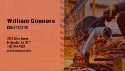 Modern Business Card Template for a Local Contractor 230e