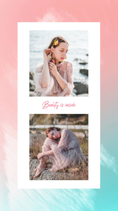 Colorful Instagram Story Design Maker Featuring Fashion-Inspired Portraits 3522e-el1