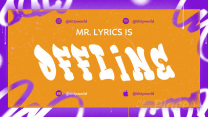 Twitch Stream Ending Screen Video Maker with Animated Graffiti Typography 2646