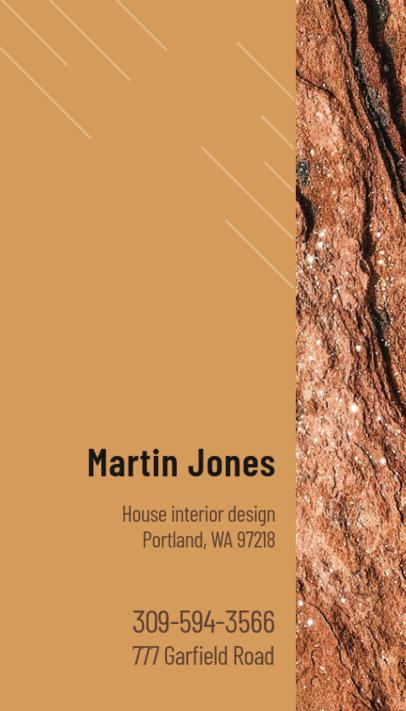 Vertical Business Card Design Maker for a Home Decor Designer 312b
