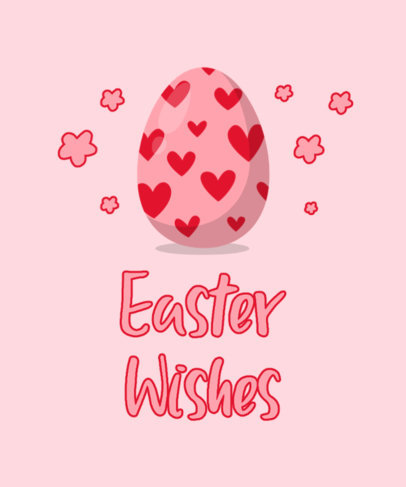 Illustrated T-Shirt Design Template with Easter Egg Drawings 3508a-el1