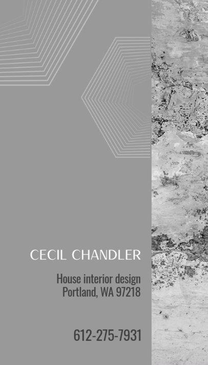 Vertical Business Card Creator for an Interior Design Agency 312e