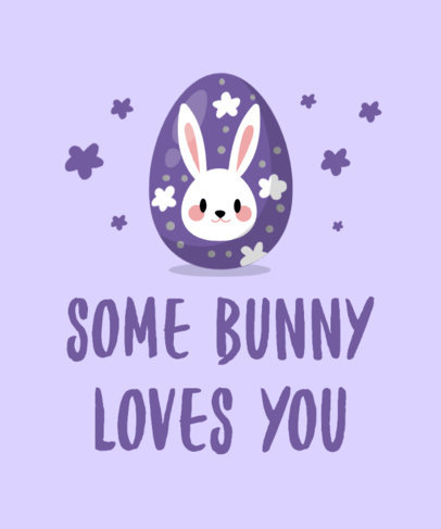 T-Shirt Design Creator Featuring an Easter Egg with a Bunny Illustration 3508d-el1