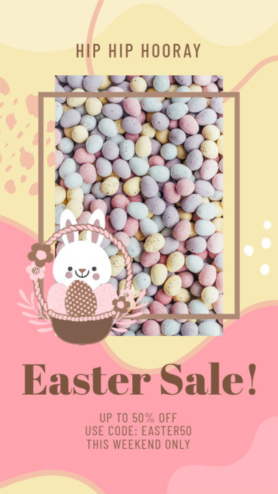 Instagram Story Design Generator for a Special Sale Featuring Easter-Themed Graphics 3389g