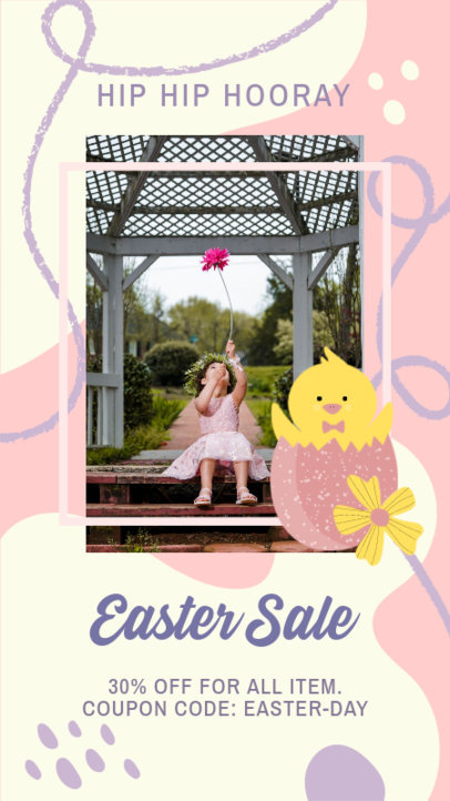 Easter-Themed Instagram Story Design Generator for a Special Sale 3389d