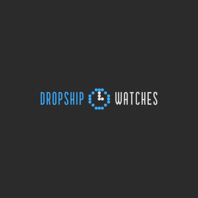 Logo Maker for a Dropshipping Company Featuring a Digital Clock Icon 4065b
