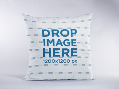 Standing Pillow Mockup Against a White Background a15113