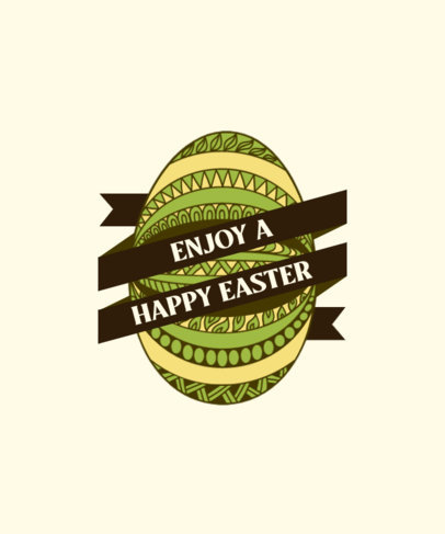 T-Shirt Design Generator for Easter Featuring a Decorated Egg Clipart 3514a-el1
