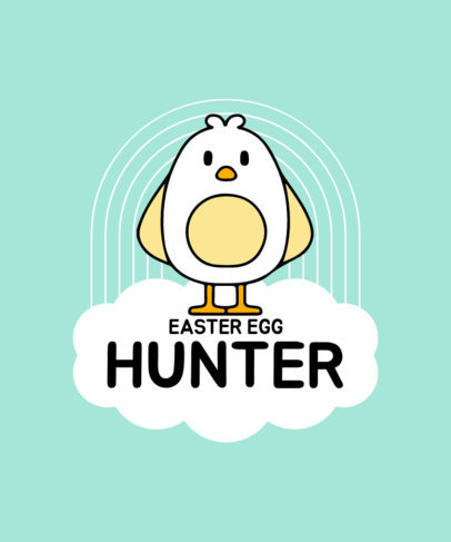 Easter T-Shirt Design Maker with a Graphic of a Little Chicken 3510e-el1