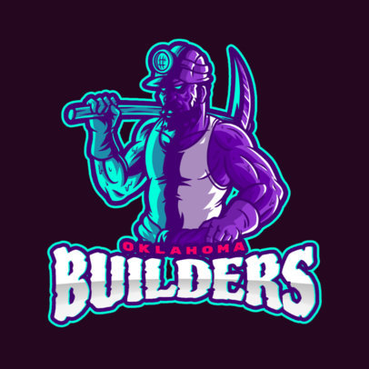 Logo Creator Featuring an Illustration of a Miner with a Pickaxe 4057b
