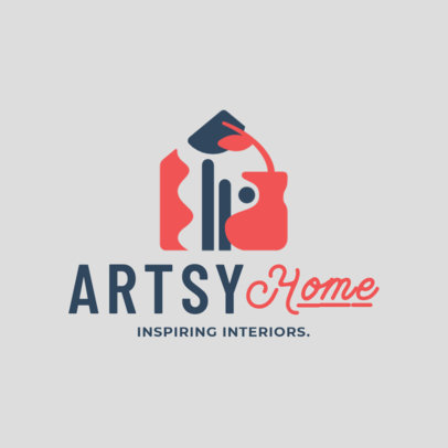Logo Maker for an Interior Designer with Abstract Clipart 4064b