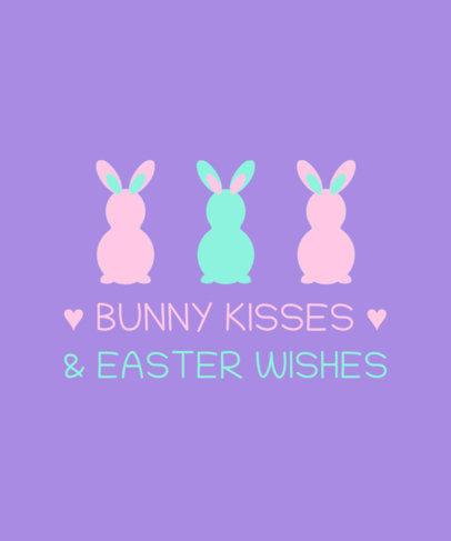 Kids T-Shirt Design Maker with an Easter Bunnies Graphic 3385e