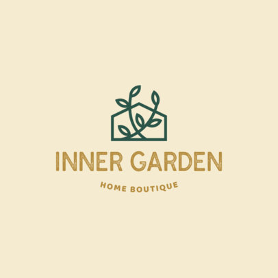 Minimalist Logo Maker for a Home Boutique With Plants Icon 4061b