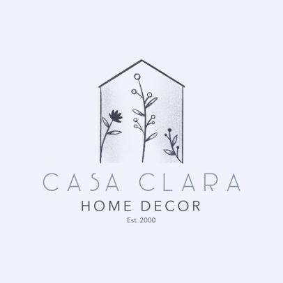 Home Decor Logo Generator Featuring Minimalist Graphics of Plants 4062f