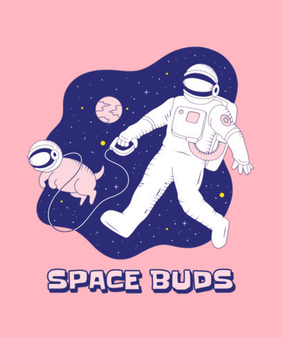 T-Shirt Design Creator With a Graphic of an Astronaut and His Dog 3380b