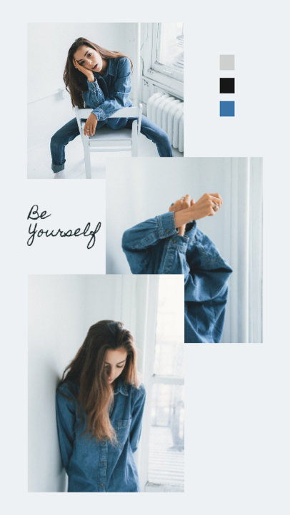 Instagram Story Design Generator Featuring a Quote and a Fashion Photoshoot 3516a-el1
