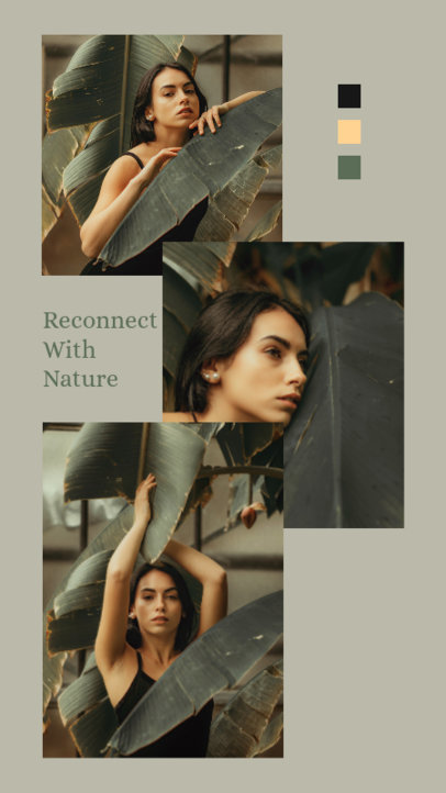 Instagram Story Design Maker Featuring a Quote on Nature and Three Photos 3516c-el1