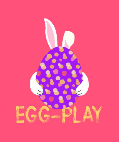 Playful T-Shirt Design Maker Featuring an Easter Egg Graphic 3387a