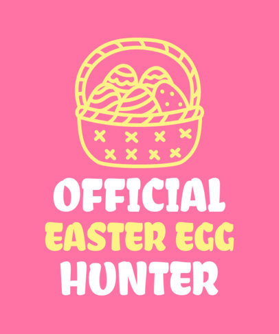 Quote T-Shirt Design Template Featuring an Easter Theme 3384a