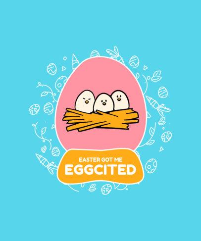 Kids' T-Shirt Design Generator with Cute Egg Cartoons 3512a-el1