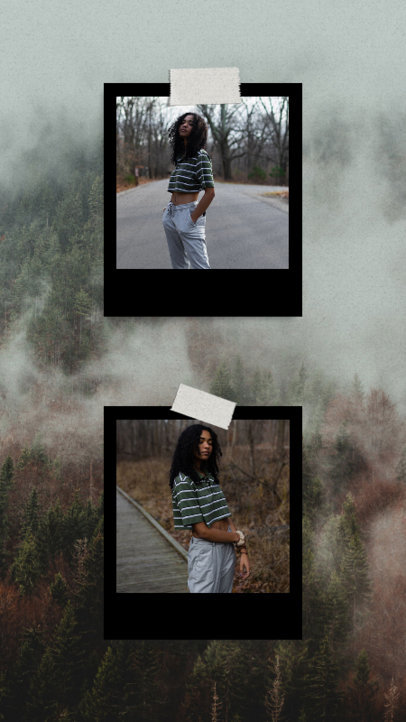 Instagram Story Design Maker Featuring a Cool Aesthetic with Pictures 3518c-el1