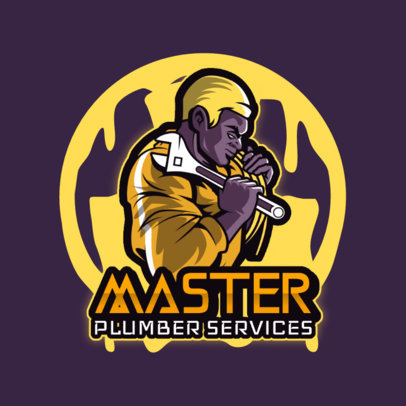 Logo Maker for a Gaming Squad Featuring an Illustration of a Plumber 4060e