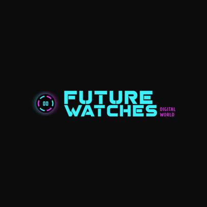 Online Logo Template for a Smart Watch Brand. 4066d
