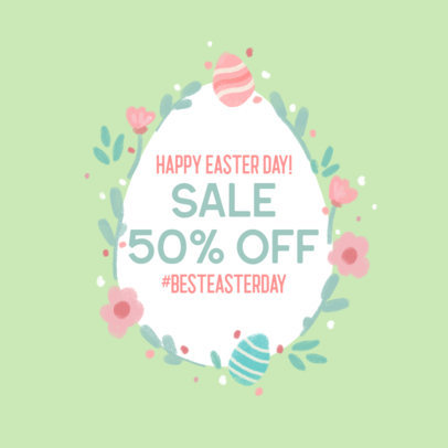 Facebook Post Template for a Special Sale Featuring an Easter Egg Graphic 3391b