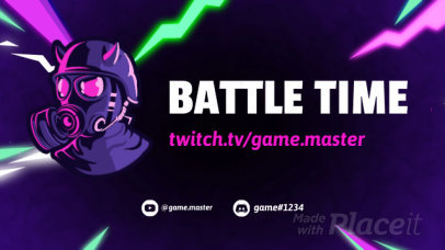 Twitch Starting Soon Video Maker with Thunderbolts and a Fortnite-Inspired Character 2637