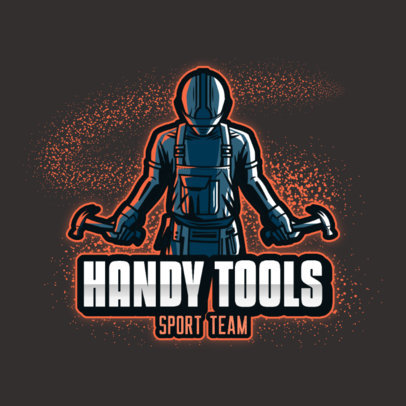 Logo Maker for Gaming and Sports Teams Featuring a Handyman Illustration 4060n