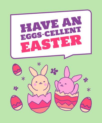 Easter-Themed T-Shirt Design Creator for Kids 3386e
