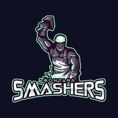 Cool Logo Creator with a Tough Blacksmith Graphic 4057f