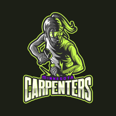 Sports Logo Maker with a Graphic of a Carpenter at Work 4057c