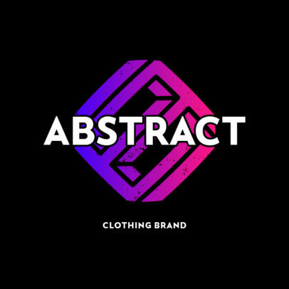 Modern Clothing Brand Logo Template with Distressed Graphics 4080