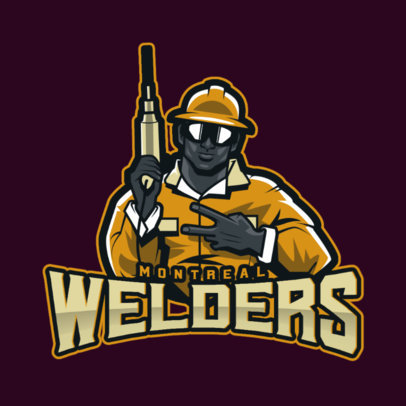 Logo Generator for a Sports Team with a Welder Clipart 4057j