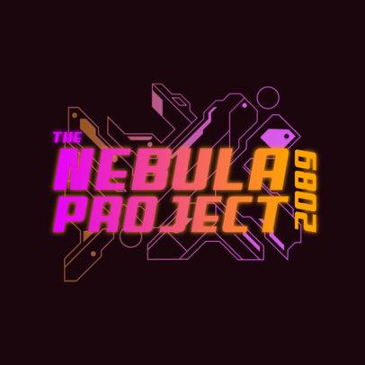 Futuristic Logo Maker with Neon-Colored Cyberpunk-Style Graphics 4074