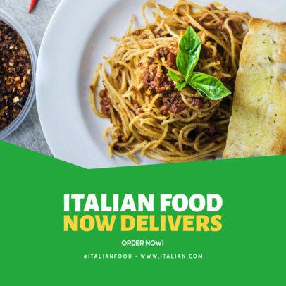 Instagram Post Design Template for an Italian Food Restaurant 3540a-el1