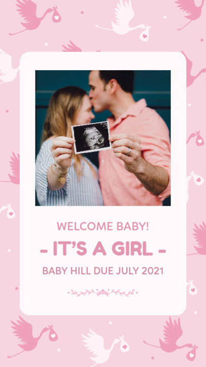Instagram Story Design Generator for a Pregnancy Announcement 3399