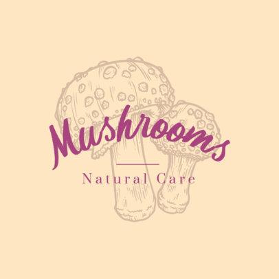 Beauty Logo Maker Featuring Engraved Mushrooms 3931f