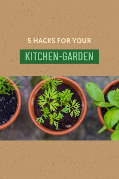 Pinterest Post Maker for Kitchen and Garden Hacks 624b