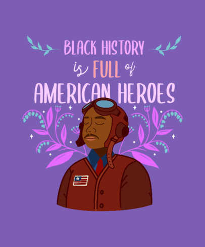 T-Shirt Design Maker to Celebrate Black History Month Heroes 3410h