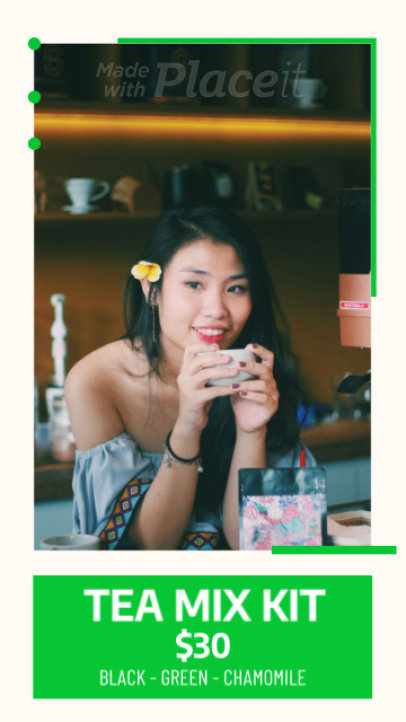 Instagram Story Video Generator for a Tea Shop 433b 2831