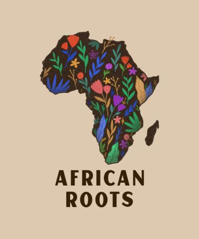 T-Shirt Design Maker Featuring an Illustration of Africa 3411b
