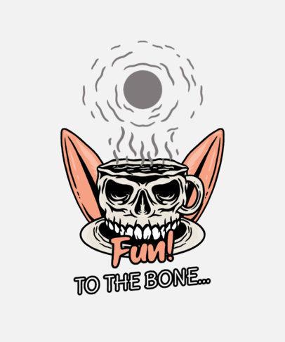 Summer T-Shirt Design Creator with a Skull-Shaped Coffee Mug Graphic 3535b-el1