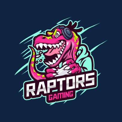 Gaming Logo Generator with a Velociraptor Graphic 3492d-el1