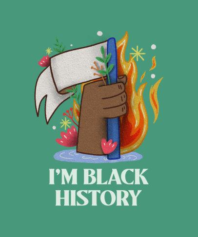 T-Shirt Design Generator Featuring a Black History Month Illustration 3314g